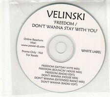(GT790) Velinski, Freedom / Don't Wanna Stay With You - DJ CD