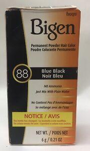 Bigen Permanent Powder Hair Color - 88 Blue Black - 0.21oz
