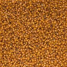 Miyuki Size 15/0 Lined Topaz Yellow AB 15-2238 Round Seed Beads 8.2g (N23/6)