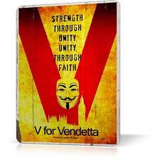 METAL TIN SIGN MOVIE V FOR VENDETTA ANARCHY Retro Decor Home POSTER