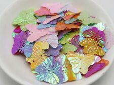 500 Mixed Color Butterfly loose sequins Paillettes 2 Hole sewing Wedding craft