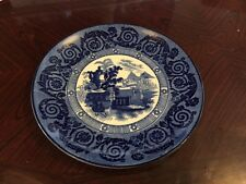 Rare Wood And Sons Blue And White Etruscan Vase Plate