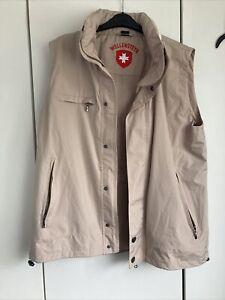 Wellensteyn Gilet Sleeveless Jacket Hooded Size L Beige