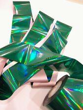 """Dark green holographic"" transfer nail foil - 1 meter"