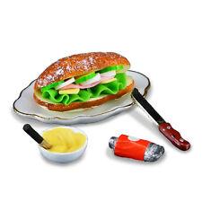 Reutter Porzellan Sandwich on Plate Set Puppenstube Dollhouse 1:12 Art. 1.710/5