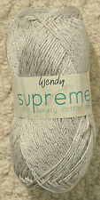 Wendy Supreme Grey With Silver Sparkle Mercerised 100 Cotton DK 100gm Ball