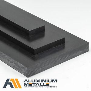 POM Platte Stärke 20mm schwarz Länge x Breite wählbar POM-C Zuschnitt Kunststoff