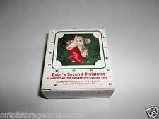 Hallmark Handcrafted Ornament Baby's Second Christmas 1986 QX4133 NEW