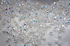 30 Swarovski® Kristall Perlen XILION  Beads 4mm CRYSTAL AB Art. 5328