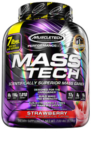 MuscleTech Mass Tech Extreme Mass Gainer Whey Protein Powder, Build Muscle Size