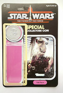 VINTAGE YAK FACE CARD  KIT POWER OF THE FORCE LAST 17 REPRO COIN