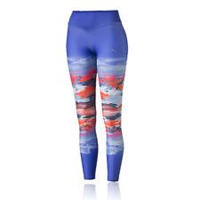 Abbigliamento da donna blu in poliestere per palestra, fitness, corsa e yoga taglia M