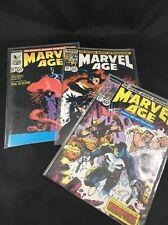 Marvel Age Lot of 3 Comics #67 68 69 Marvel Comics Vintage 1980s X-Men