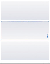 Blank Check Paper Stock-Check in Middle Blue Count/100