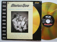 LD LaserDisc STATUS QUO ROCKING THROUGH THE YEARS  PHONOGRAM 1986 UK  PAL