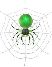 Halloween 6' Projection Airblown Green Spider on the Web Halloween Inflatable
