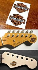Harley Davidson Headstock Decals Waterslide Decal Guitar Strat Stratocaster