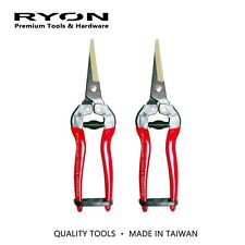 2x Fruit and Flower Snips Trimming Picking Shears Pruning Secateurs High Quality