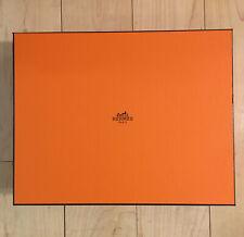 HermÈS Paris Orange Empty Shoe Gift Box 13 x 10 x 3.25 with Tissue Paper