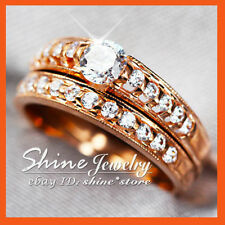 Rose Gold Engagement & Band Ring Sets