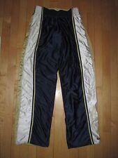 Nike Navy Gold White Reversible Satin Finish Warm Up Jersey Pants Men's M EA17