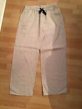 Zara Beige Linen Trousers Size XL Excellent Condition