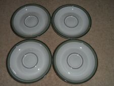 4 X Denby Regency Green Tea/Coffee Cup soucoupes Set-remplacement-Bargain!