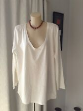 AVELLA LADIES WHITE LONG SLEEVED TOP, SIZE 20