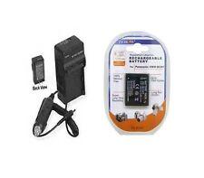 Battery + Charger Panasonic DMC-FP3G DMC-FP3H DMC-FT10
