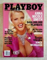 PLAYBOY MEN'S MAGAZINE February 2001 Anna Nicole Smith Vince McMahon Survivor