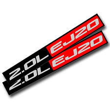 2X BLACK/RED METAL 2.0L EJ20 ENGINE RACE MOTOR SWAP BADGE FOR TRUNK HOOD DOOR