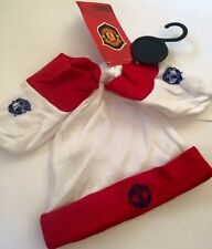 New Baby Boys Unisex Red Manchester United Hat Socks Shoes Set 6-9 9-12 Months