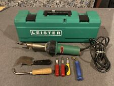 LEISTER TRIAC S Heat Gun Portable Plastic Welder W/ Case and Accessories