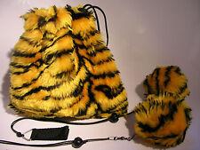 Tiger Pois in 2 Farben gelb - schwarz oder blau - schwarz Kiwido Komet Poi