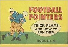 FOOTBALL POINTERS 4 TRICK PLAYS & HOW TO RUN THEM MINI COMIC PROMO GIVEAWAY RARE