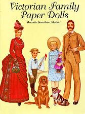 Victorianas familia Paper Dolls anziehpuppen para cortar vestidos geniales
