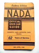 NADA APRIL 1995 Official Used Car Guide EASTERN Edition Cars Trucks