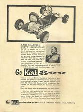 Vintage & Rare 1962 Go-Kart 800 Duffy Livingstone Go-Kart Ad
