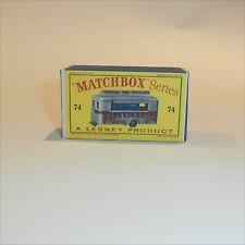Matchbox Lesney 74 a Refreshment Canteen Repro D style Empty Box