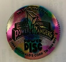 Vintage Mighty Morphin POWER RANGERS  McDonald's Pog Slammer 1994 Rainbow