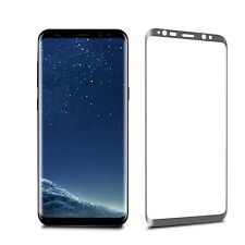 For Samsung Galaxy S8 - Full Curved Tempered Glass Lcd Screen Protection Silver