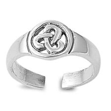 925 Jewelry Face Size 8 mm Celtic Design Adjustable Toe Ring Sterling Silver