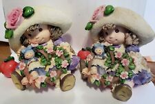Lot of 2 1994 Enesco Blossoms of Love to You Figurines #114049
