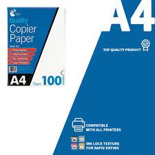 LIBRO bianco a4 COPIA FOTO FOGLI pk100 75gsm inchiostro BLOCCA CARTA COMUNE tutte le stampanti