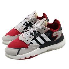 Adidas Originals Nite бегуна Boost, алые, черные, кристальный белый мужские повседневные FV3872