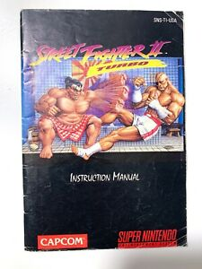 ****Street Fighter II Turbo SNES Capcom Original Instruction Booklet Manual Book