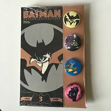 BATMAN Button Collection Set 3 Limited # 005312 Mazzucchelli 1939-1989  MINT