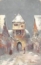 B37336 painting art postcard baehre winter