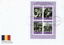Chad 2019 FDC The Beatles John Lennon Paul McCartney 4v M/S Cover Music Stamps