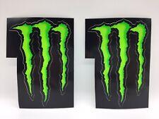 Brand New 2 X Official Monster Energy Stickers DECALS MOTORSPORT MMA MOTOGP